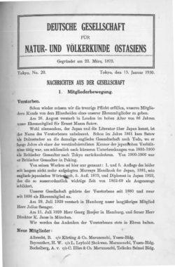 NOAG No. 20 (15. Januar 1930)