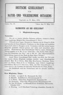 NOAG No. 25 (31. März 1931)