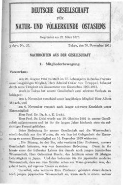 NOAG No. 27 (30. November 1931)