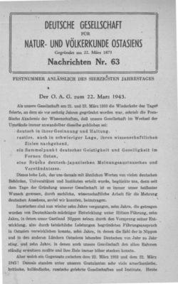 NOAG No. 63 (22. März 1943)