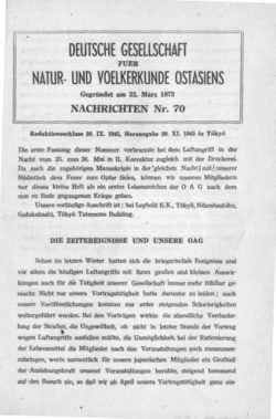 NOAG No. 70 (30. September 1945)